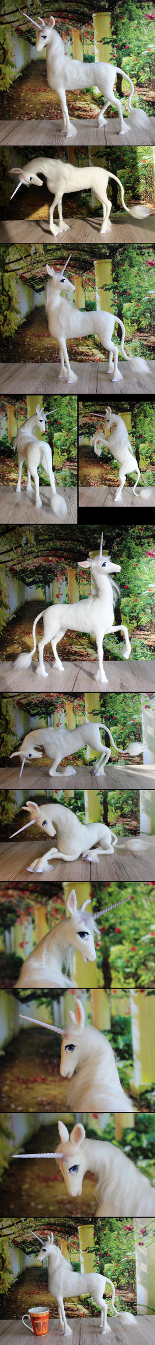 And in the lilac forest was a unicorn (sold) by Finya-Vardeen