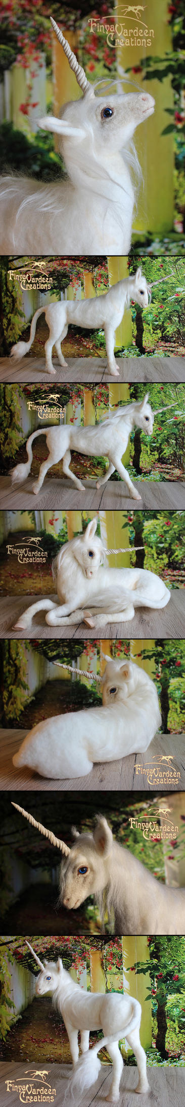 needle felted Unicorn 'Clouds Dream' by Finya-Vardeen