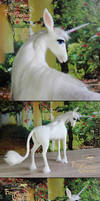 The Last Unicorn - needle felted - (sold)
