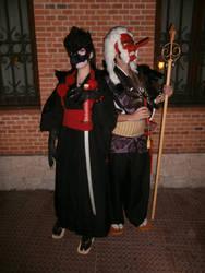 Karasu-Tengu and O-Tengu by ElElfoAzulDeLaNoche
