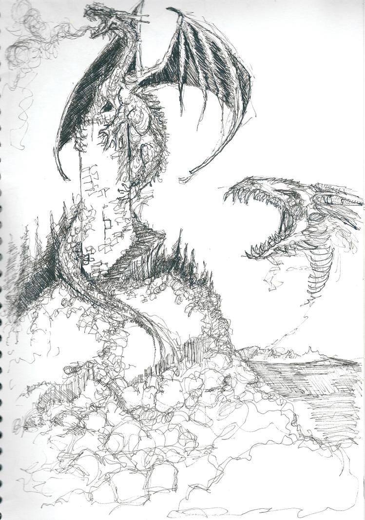 top medieval castles and dragons images for pinterest tattoos. Black Bedroom Furniture Sets. Home Design Ideas