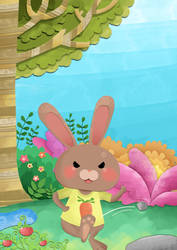 Madly Bunny by artforchildren