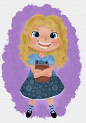 little blonde girl by artforchildren