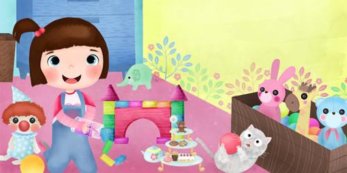 little girl play by artforchildren