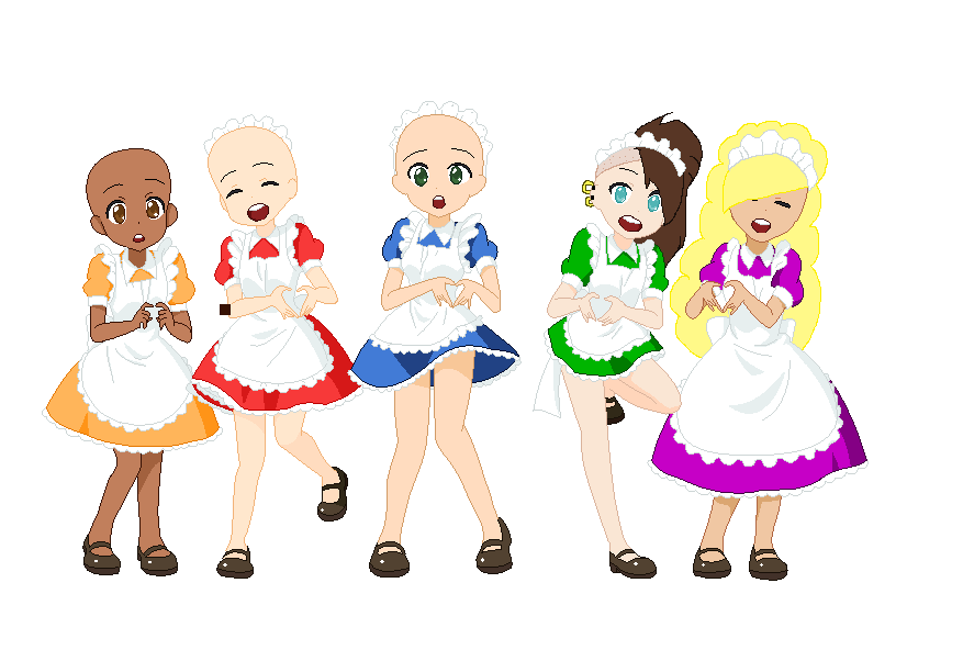 Maid Collab Base by Dollie7