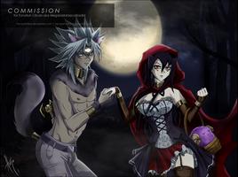 Commission - Marikwolf and Herzyruza by HerzyDIshtar