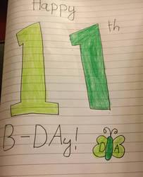 Happy 17th B-DAy, Deviantart! (COLORED) by Justagummybear