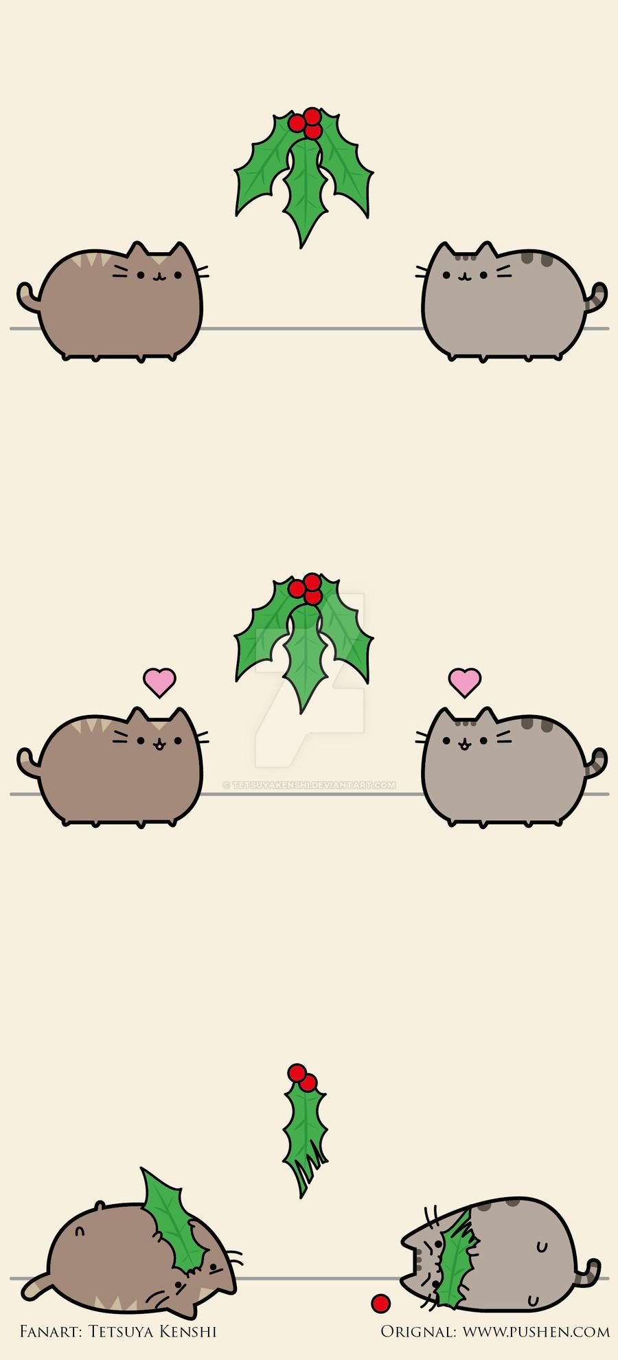 Pusheen Christmas by TetsuyaKenshi on DeviantArt