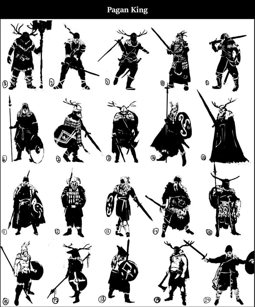 Pagan King Thumbnails by ranits123