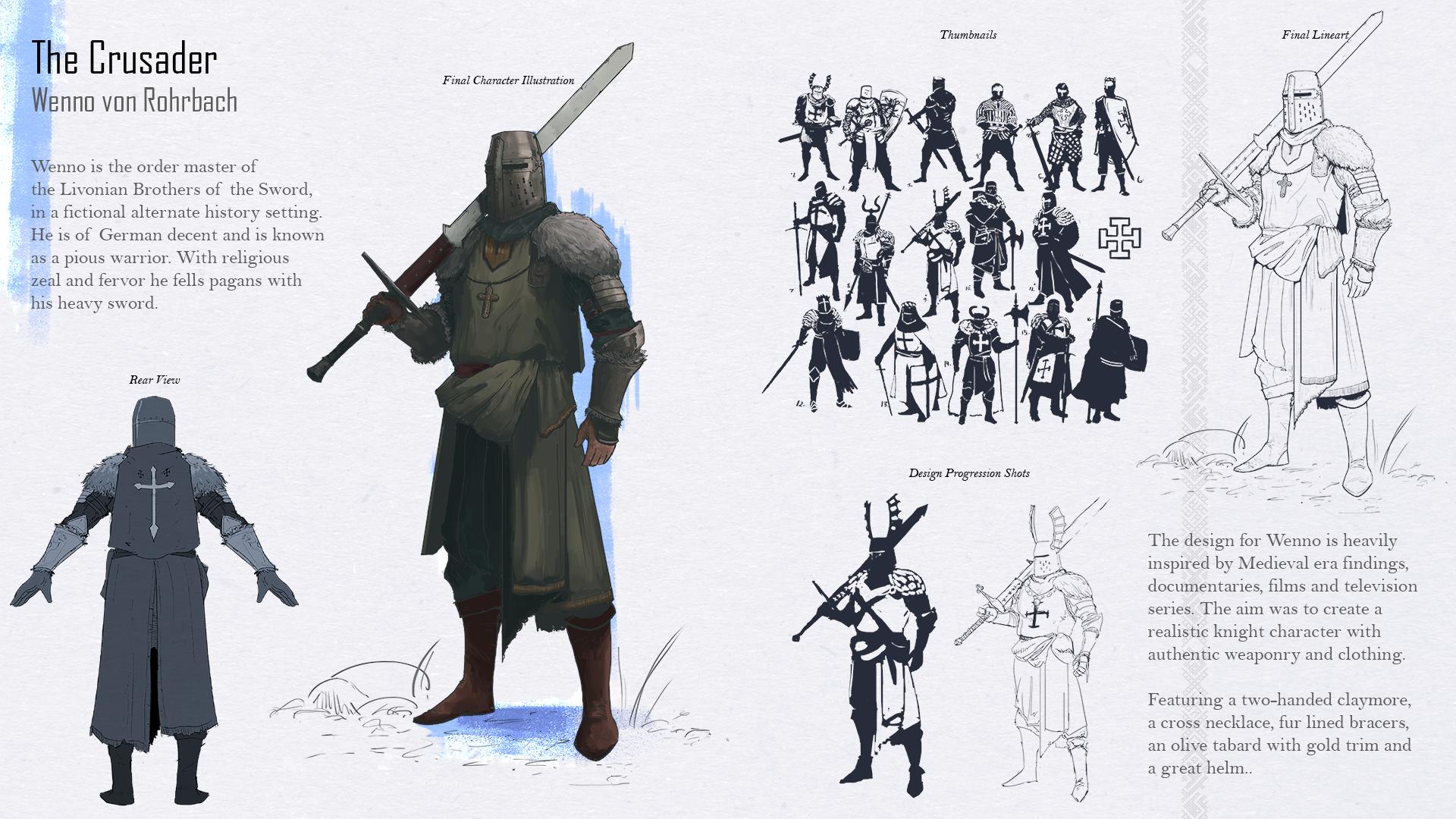 The Crusader character page by ranits123
