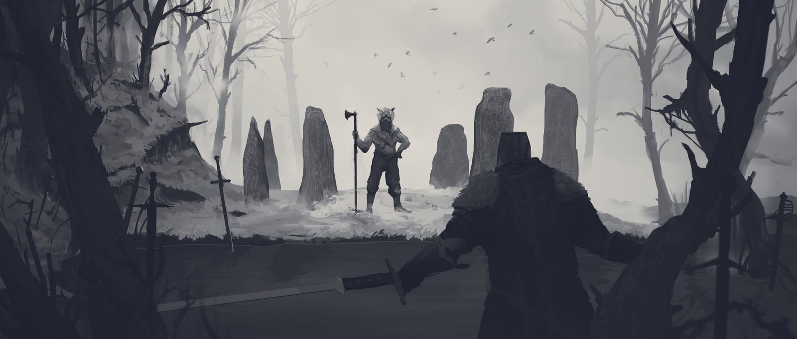 The Confrontation Grayscale by ranits123