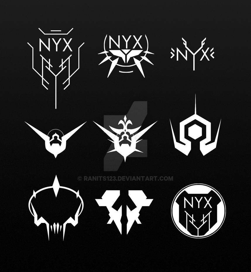 NYX logos by ranits123