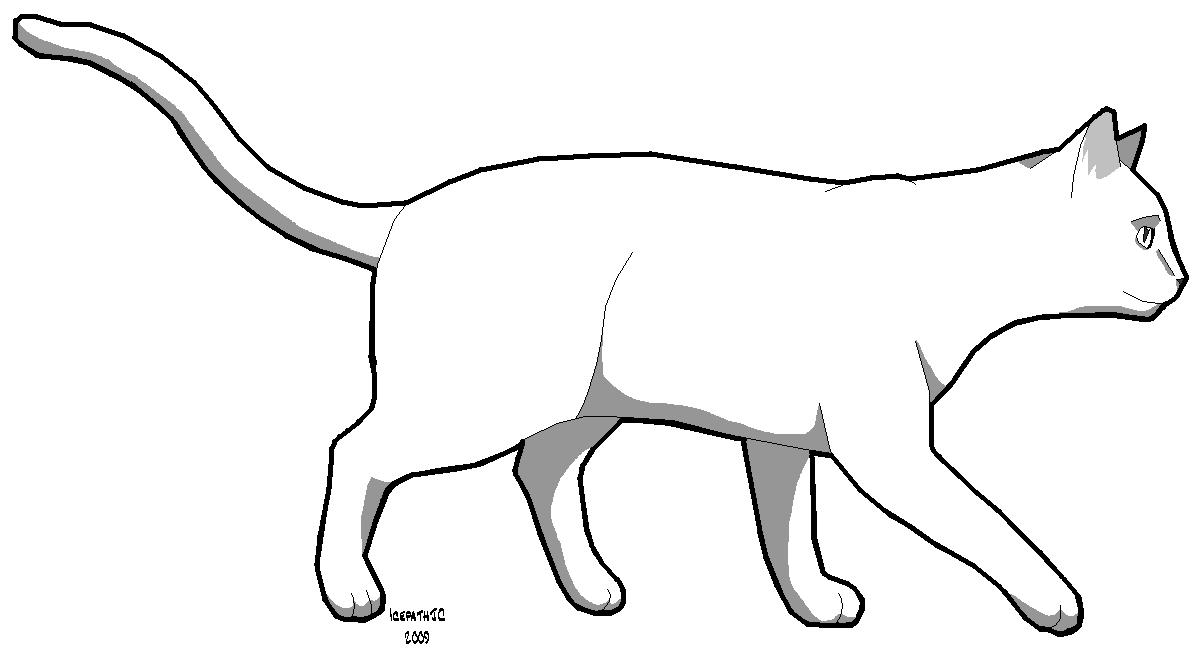Cat Template 2 by IcepathJC on DeviantArt
