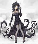 goth girl black dress
