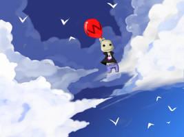 Sky Town sackboy by Jump-Button