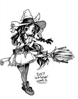 Inktober 2017 Week 2 by Jump-Button