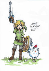 Inktober 2017 Week 3 Link by Jump-Button