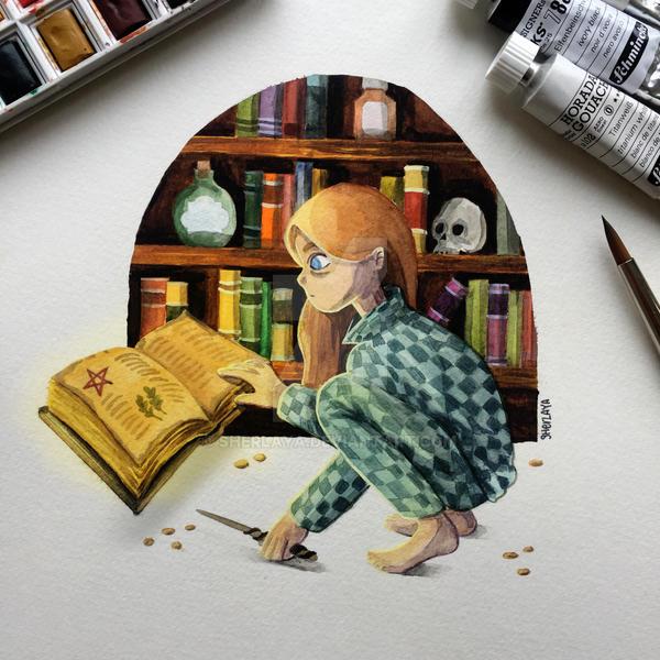 Little witch by Sherlaya
