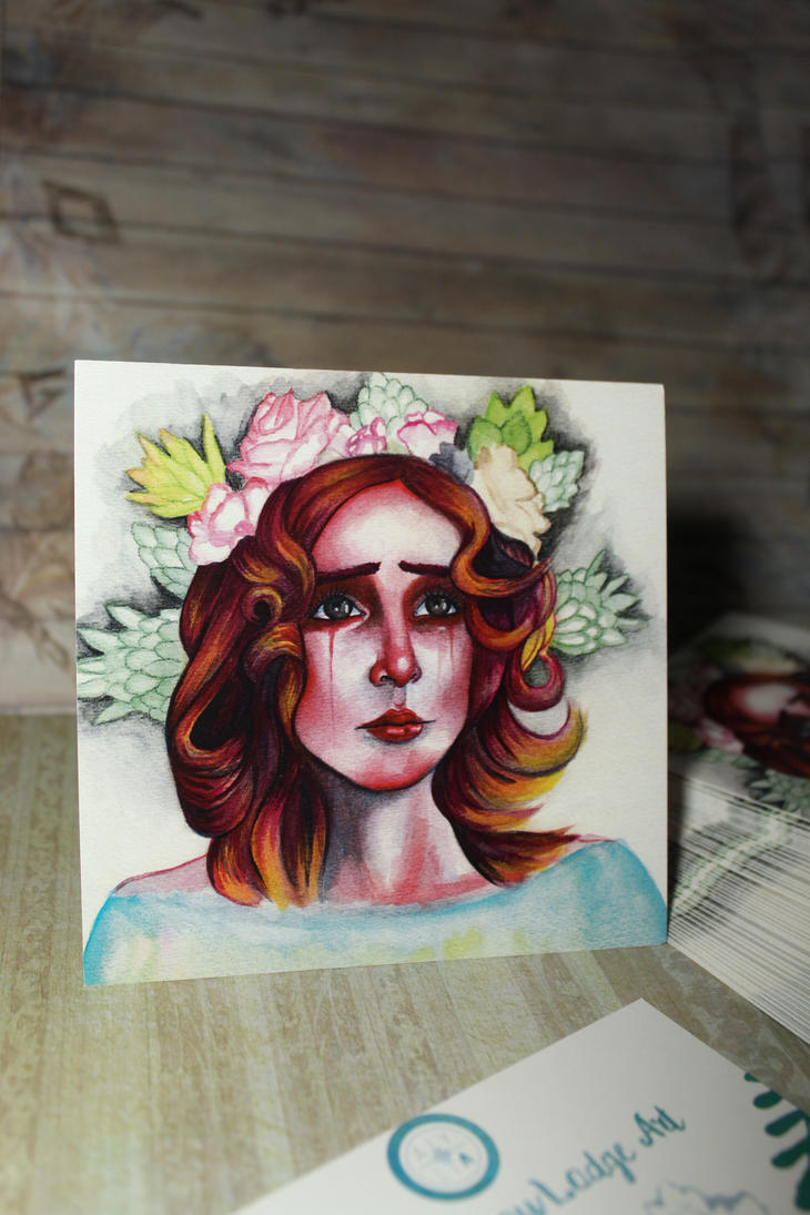 Melancholy Queen Postcards are here! by aliciayellowlodge