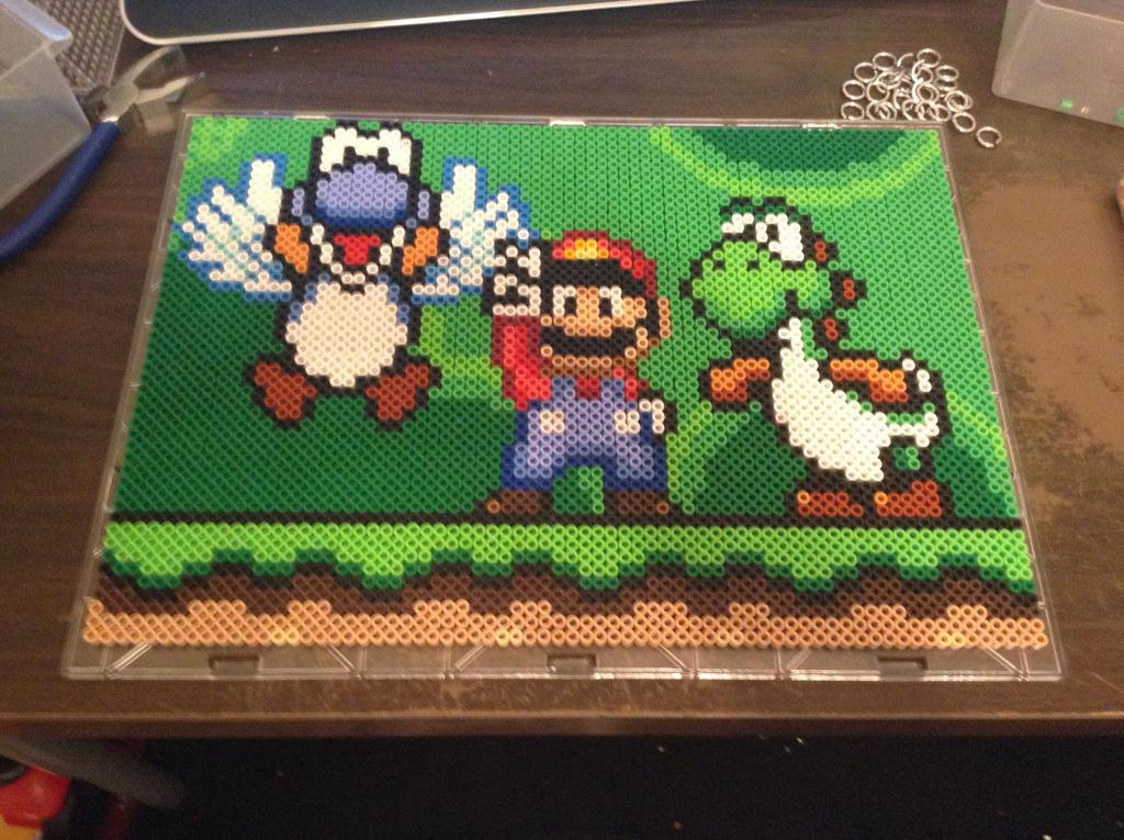 Mario and Yoshi(s) Potrait by Werbenjagermanjensen