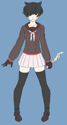 Yandere Game Player Character (No Buttons ver.) by aea