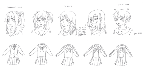 Yandere Game Hairstyle Templates
