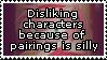 Hating characters due to pairings is stupid by Vertekins