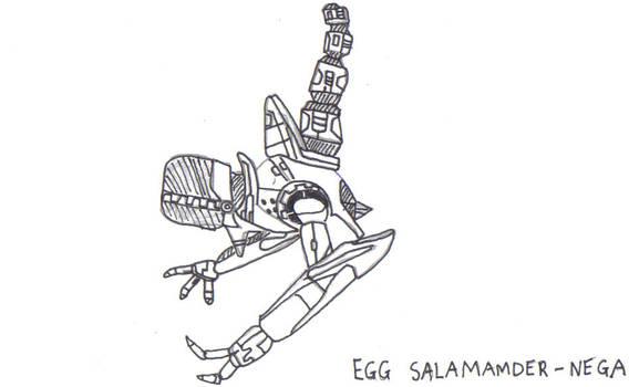Egg salamander-Nega, Inked
