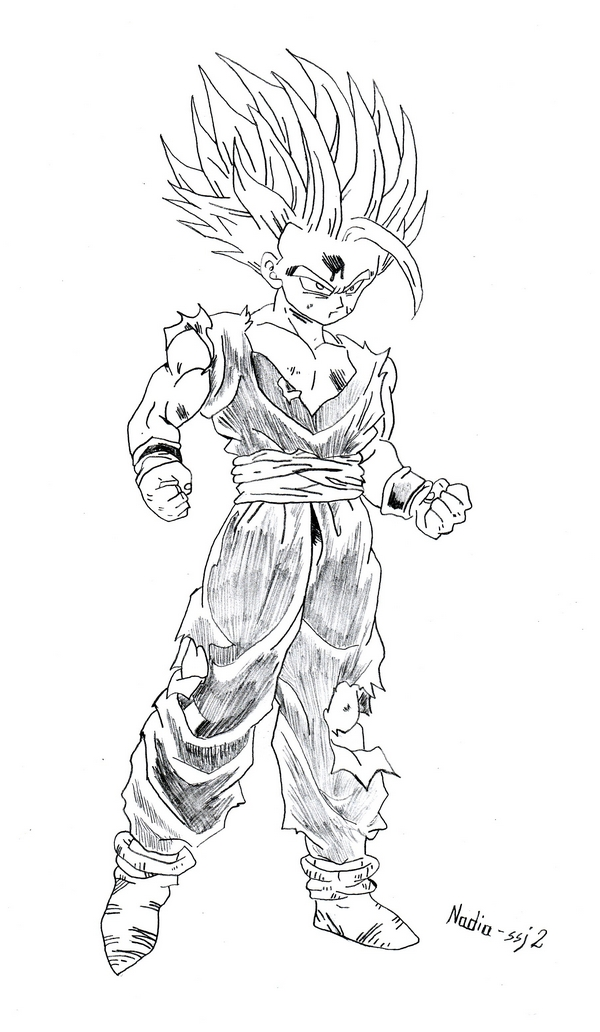 Dragonball Online Coloring Pages  SonGohan 37  YouTube