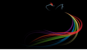 Rainbow Dash - Implied - Black - 1080p by Jewelweed-Shine