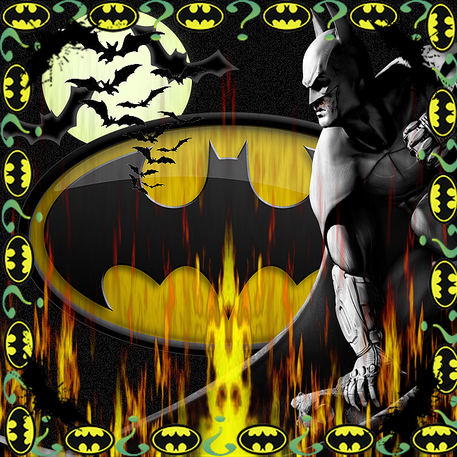 batman background with frame by nascarfan388