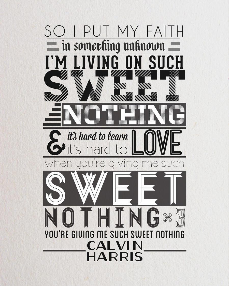 Calvin Harris Typography by blakeestes on DeviantArt