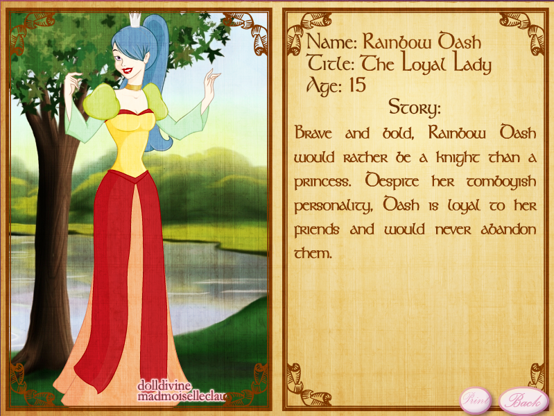 Princess Rainbow Dash by Dahila-Mockery