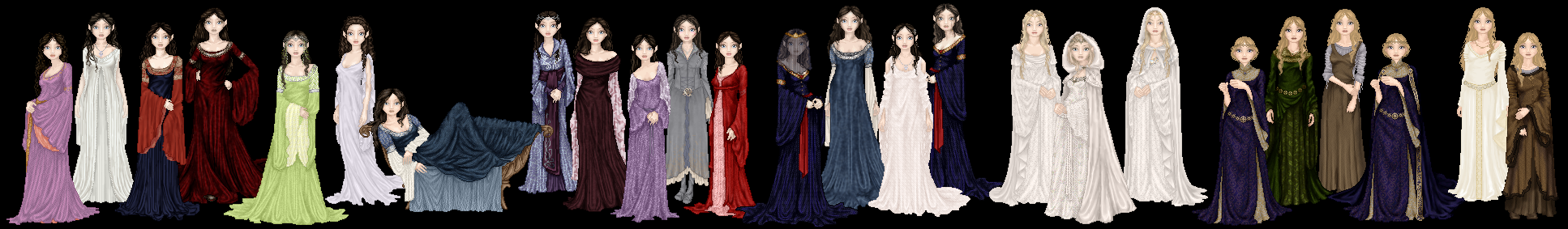 Lord of the Rings Gowns by tata-s-z on DeviantArt