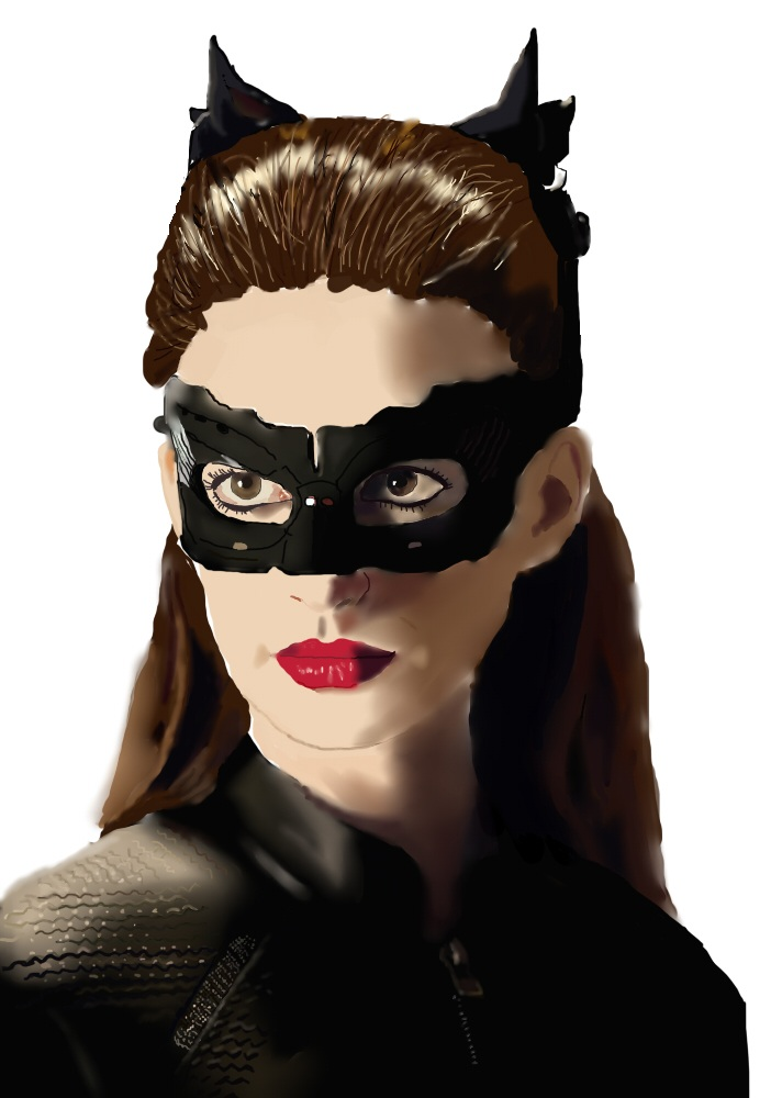 Anne Hathaway's Catwoman painting by foREVerA7Xfan
