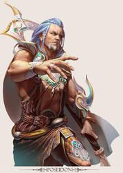 MMO Game Character design Poseidon by yuchenghong