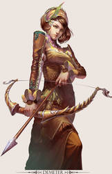 MMO Game Character design Demeter by yuchenghong