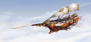 Fantasy Airship by yuchenghong