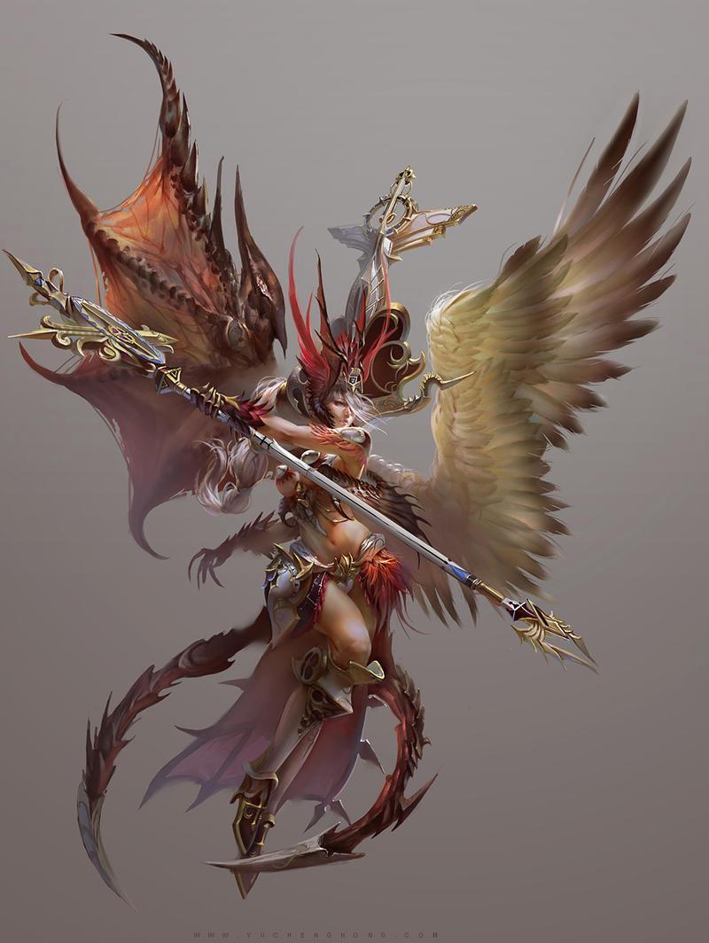 Galeria de Arte: Ficção & Fantasia 1 Fallen_angel_by_yuchenghong-d68ukco