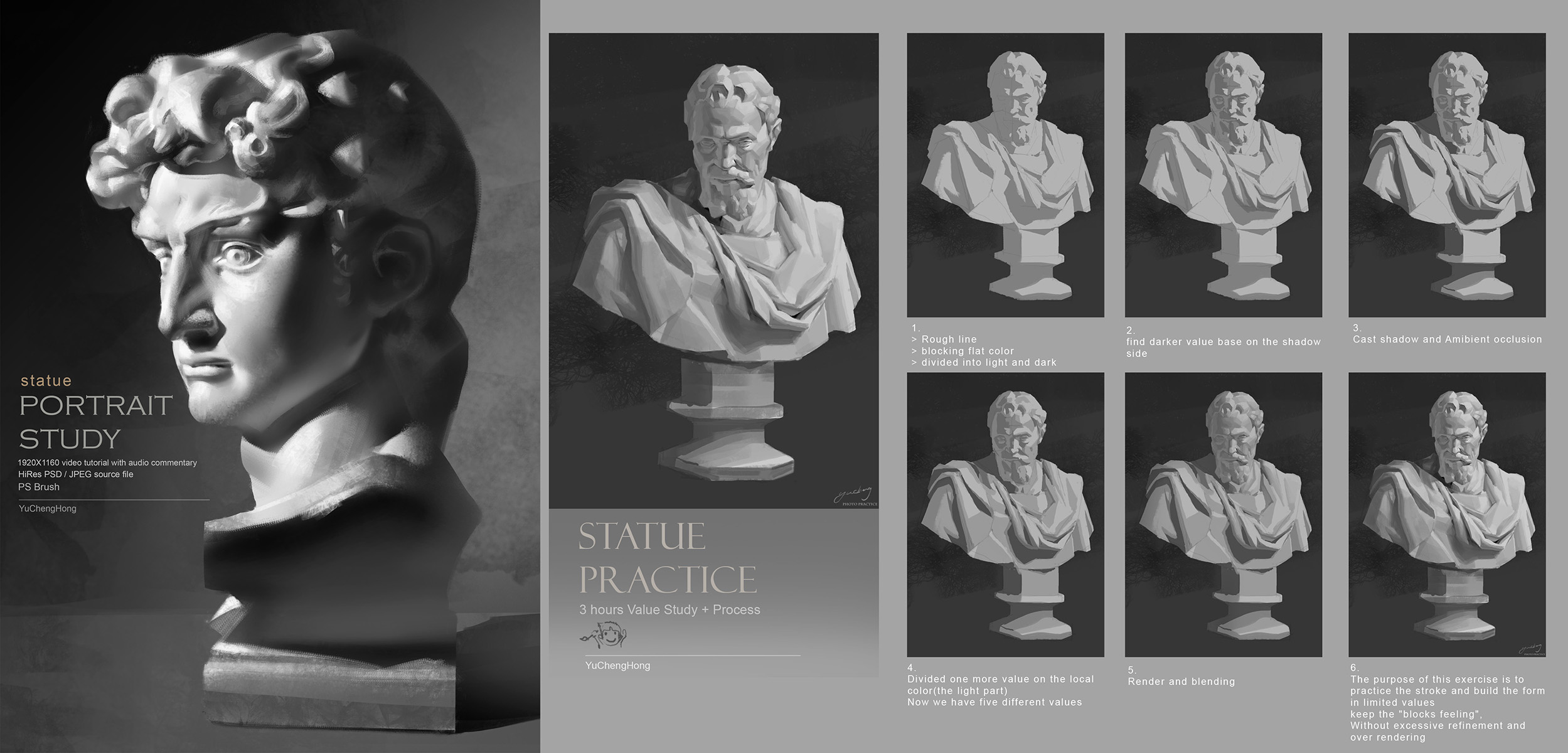 Statue practice + Process by yuchenghong