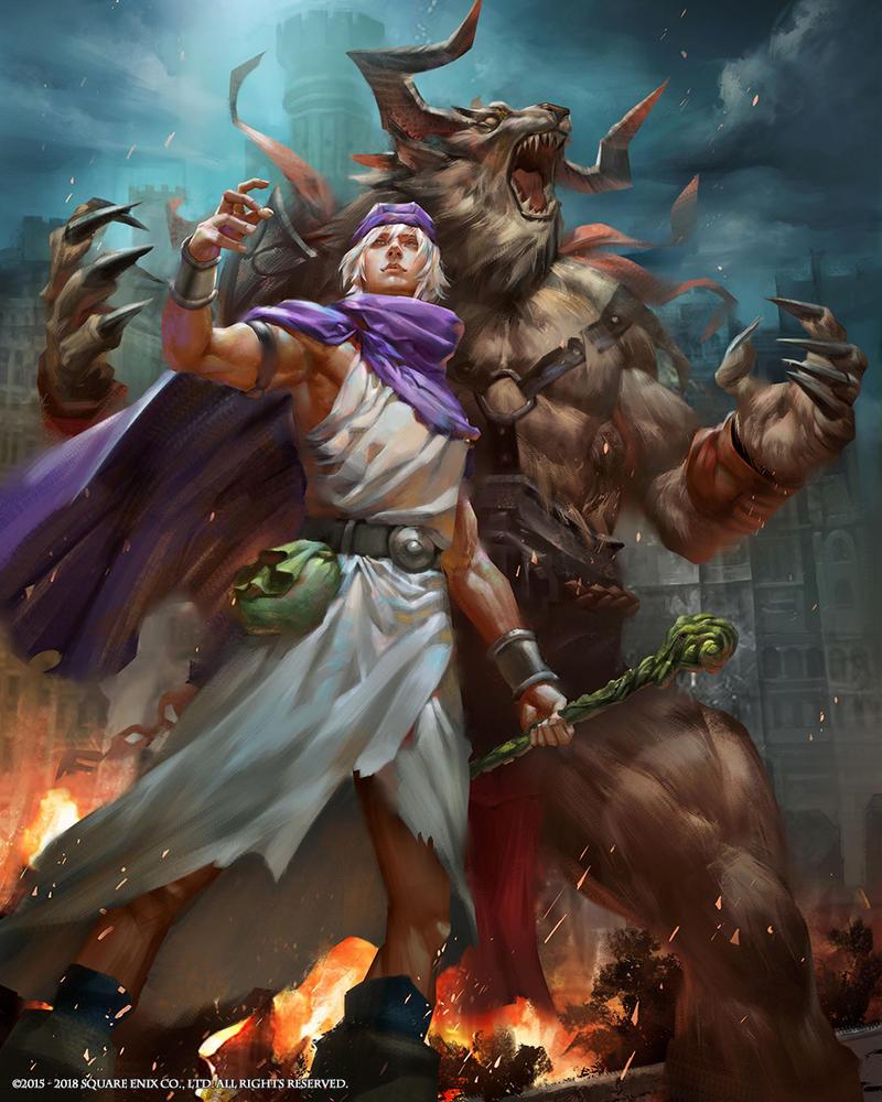 mobius final fantasy dragon quest v hero by yuchenghong on deviantart