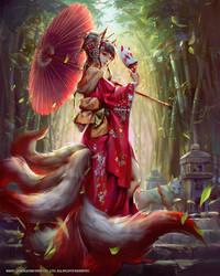 Mobius Final fantasy- Tamamo no mae by yuchenghong