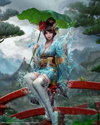 Mobius Final Fantasy - Mizuhanome by yuchenghong