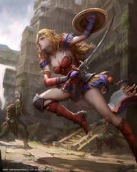 Mobius Final Fantasy (FFIV Soldieress) by yuchenghong
