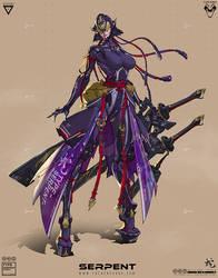 Onna Bugeisha-Serpent
