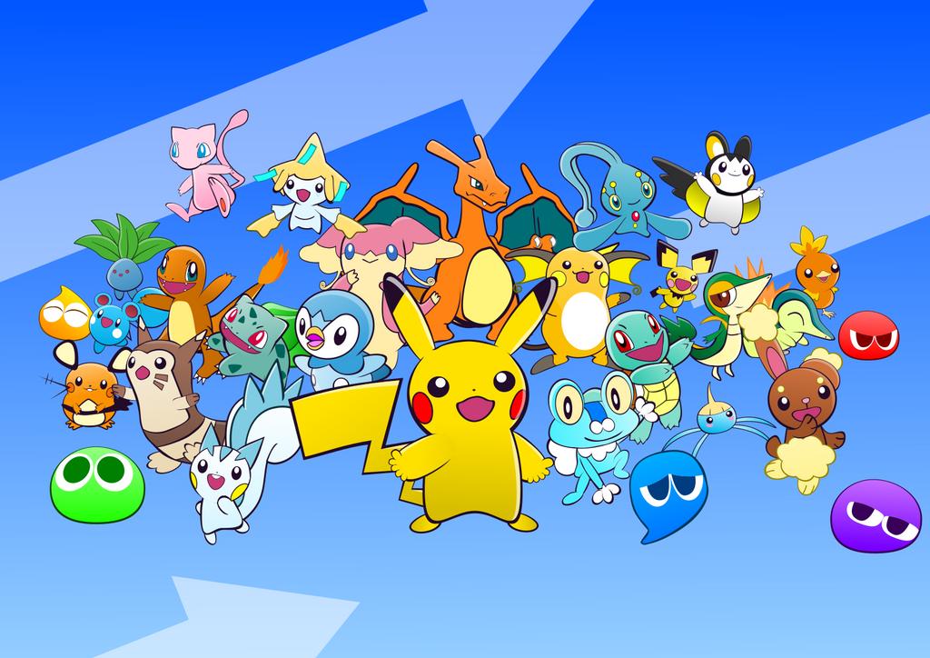 All 24 Pokemon - Puyo Puyo 20th Anniversary Style by tetriser016