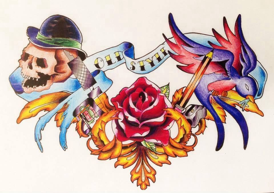 New school sparrow tattoo