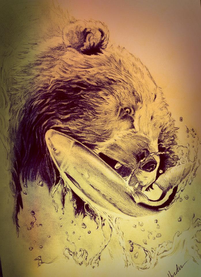 Bear Drawing Hudu by Hudu85