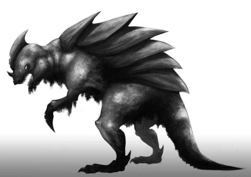 Creature 1 B/W by HasnulKarami