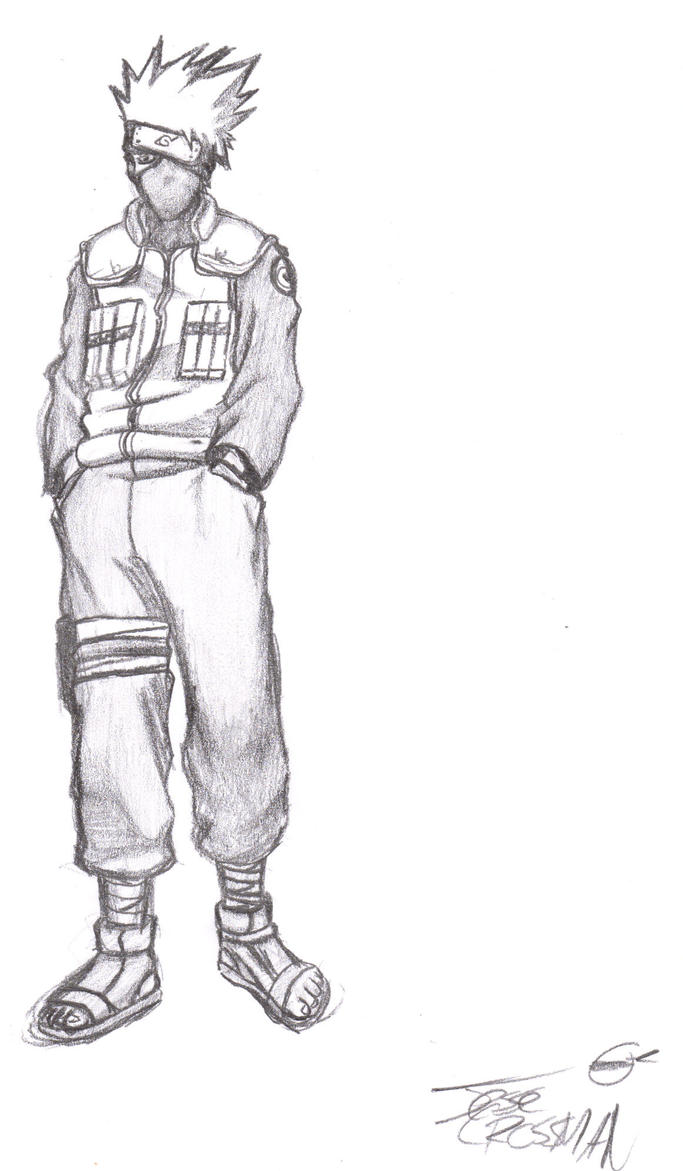 Kakashi drawing full body